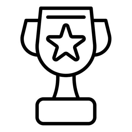 Mentor win cup icon, outline style