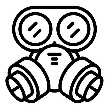 Protection gas mask icon, outline style Stok Fotoğraf