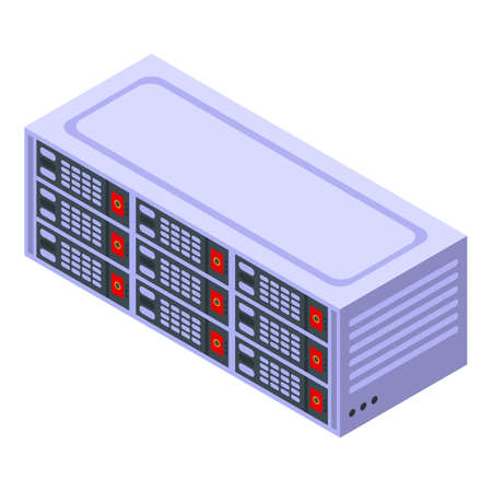 Internet server icon, isometric style