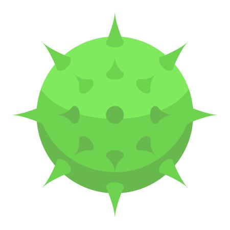 Green chestnut icon, isometric style Illustration