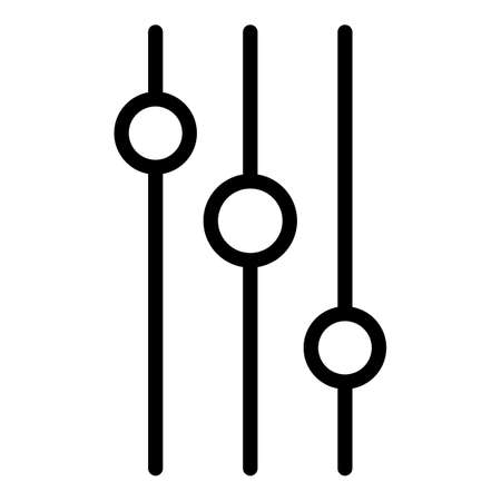 Round control buttons icon, outline style Ilustração