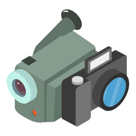 Filming accessory icon. Isometric illustration of filming accessory vector icon for web