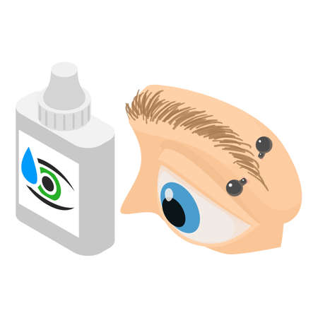Eye treatment icon. Isometric illustration of eye treatment vector icon for web
