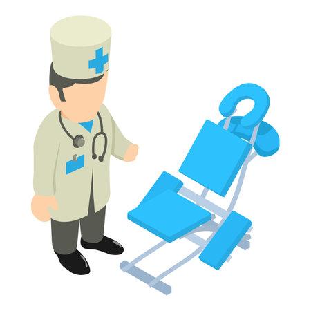 Medical examination icon. Isometric illustration of medical examination vector icon for web