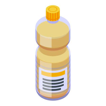 Canola oil fine bottle icon. Isometric of canola oil fine bottle vector icon for web design isolated on white background