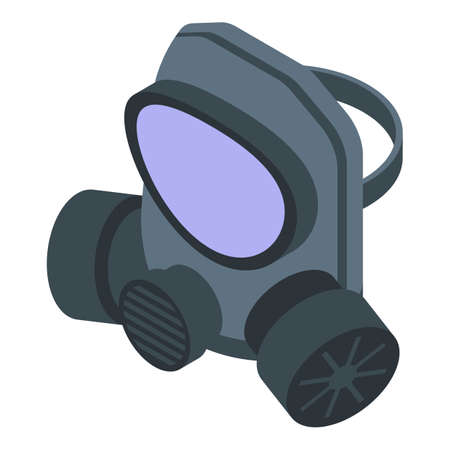 Air gas mask icon. Isometric of air gas mask vector icon for web design isolated on white background