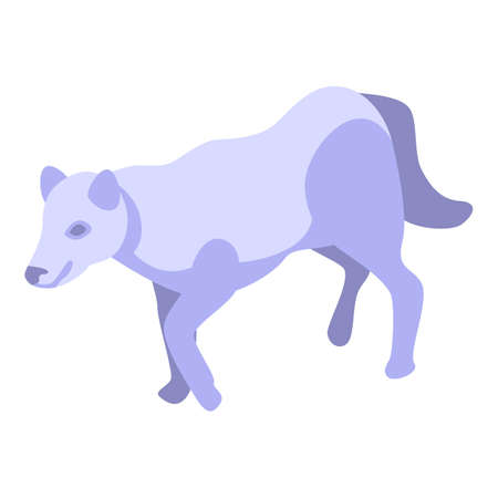 Nordic wolf icon. Isometric of nordic wolf vector icon for web design isolated on white background Ilustracja