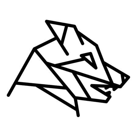 Fauna wolf icon. Outline fauna wolf vector icon for web design isolated on white background Ilustracja