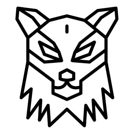 Wolf icon. Outline wolf vector icon for web design isolated on white background