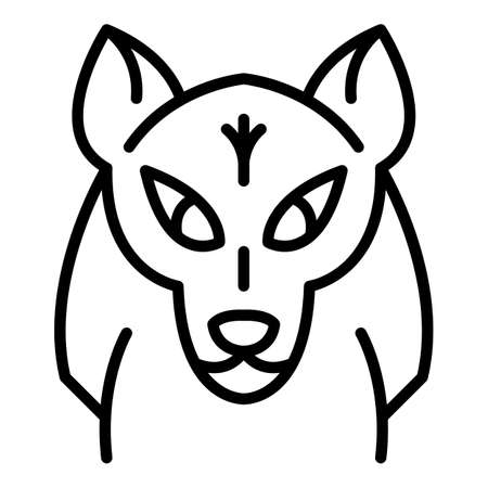 Mascot wolf icon. Outline mascot wolf vector icon for web design isolated on white background