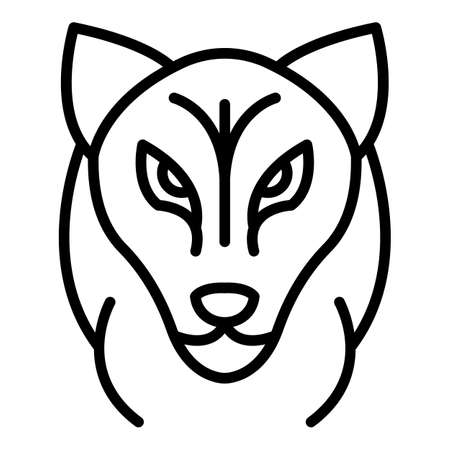 Wolf head icon. Outline wolf head vector icon for web design isolated on white background