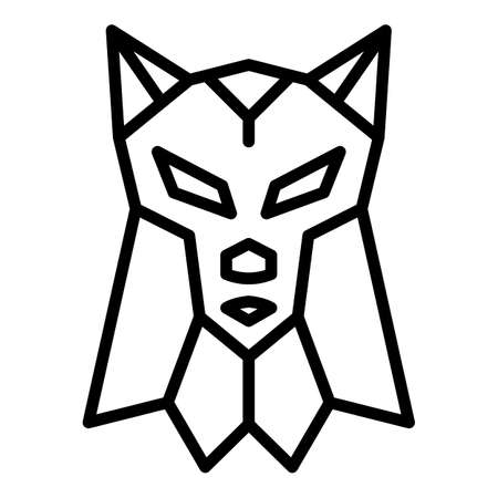 Canine wolf icon. Outline canine wolf vector icon for web design isolated on white background