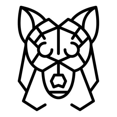 Tattoo wolf icon. Outline tattoo wolf vector icon for web design isolated on white background Ilustracja