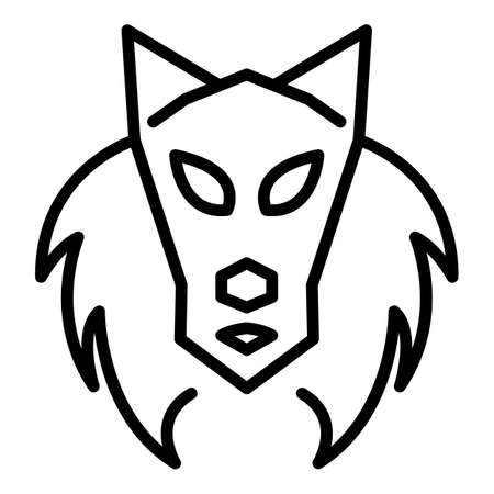 Old wolf icon. Outline old wolf vector icon for web design isolated on white background Ilustracja