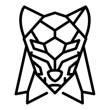 Abstract wolf icon. Outline abstract wolf vector icon for web design isolated on white background