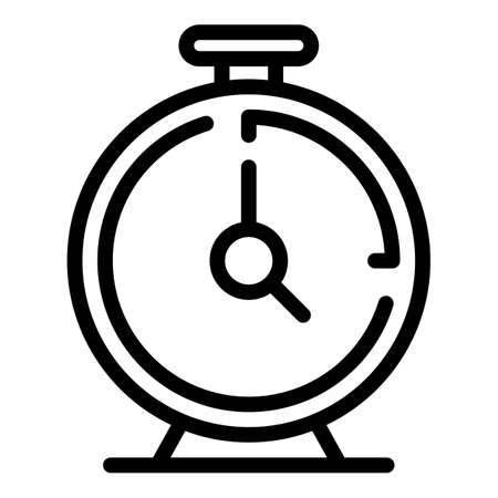 Kitchen clock icon. Outline kitchen clock vector icon for web design isolated on white background Çizim