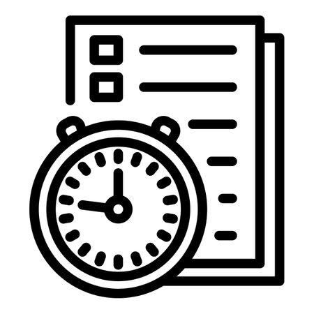 School exam icon. Outline school exam vector icon for web design isolated on white background