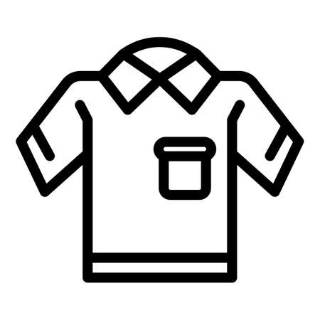 Primary school uniform icon. Outline primary school uniform vector icon for web design isolated on white background