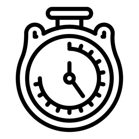 Sport stopwatch icon. Outline sport stopwatch vector icon for web design isolated on white background