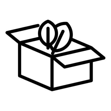Carton box icon. Outline carton box vector icon for web design isolated on white background Çizim