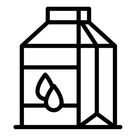 Farm eco milk icon. Outline farm eco milk vector icon for web design isolated on white background