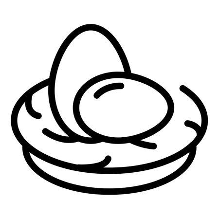 Farm eggs icon. Outline farm eggs vector icon for web design isolated on white background