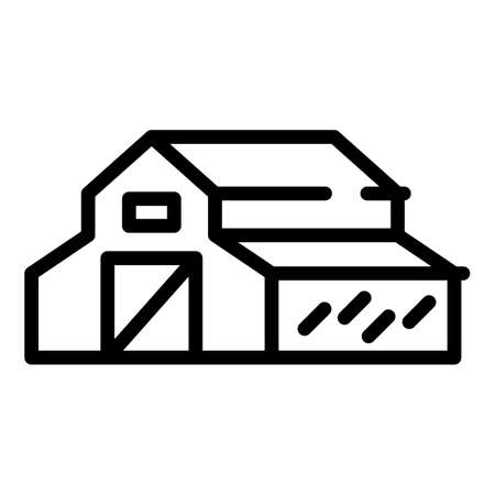Barn icon. Outline barn vector icon for web design isolated on white background 向量圖像