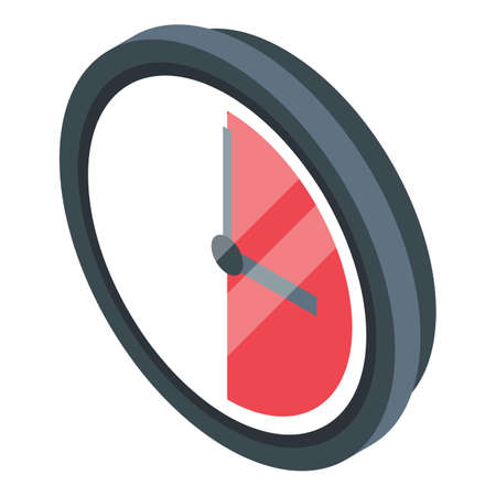 Trial period time icon, isometric style