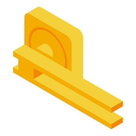 New door handle icon, isometric style