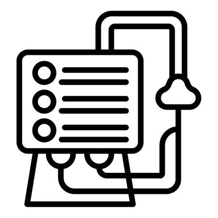 Healthcare ventilator medical machine icon, outline style