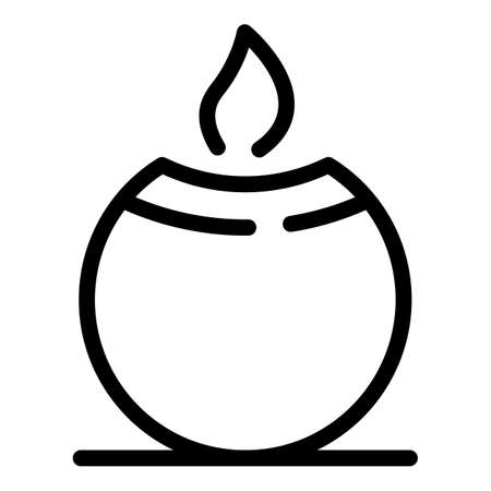 Spa candle icon, outline style