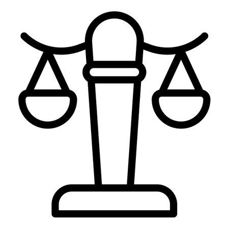 Judge balance icon, outline style