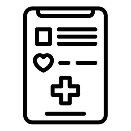 Smartphone medical care icon, outline style