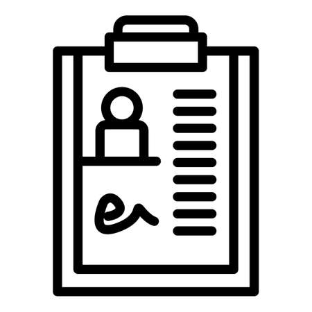 Doctor clipboard icon, outline style  イラスト・ベクター素材