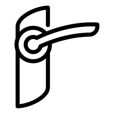 Close door handle icon, outline style