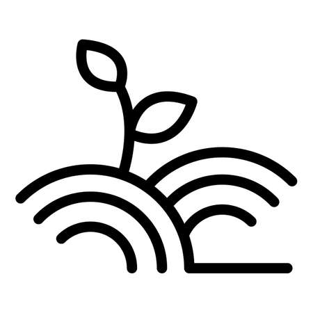 Organic plant icon, outline style