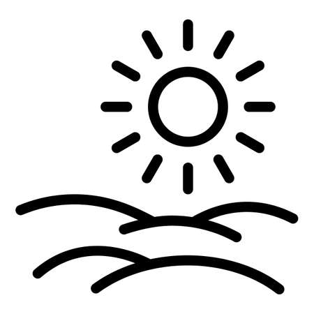 Natural plants icon, outline style