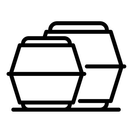 Bio food pack icon, outline style