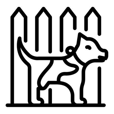 Farm dog icon, outline style