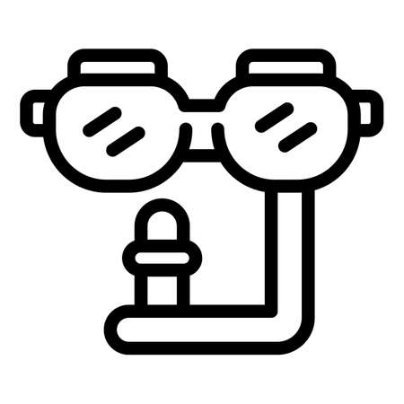 Swimming equipment icon, outline style