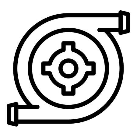 Hydro power turbine icon, outline style