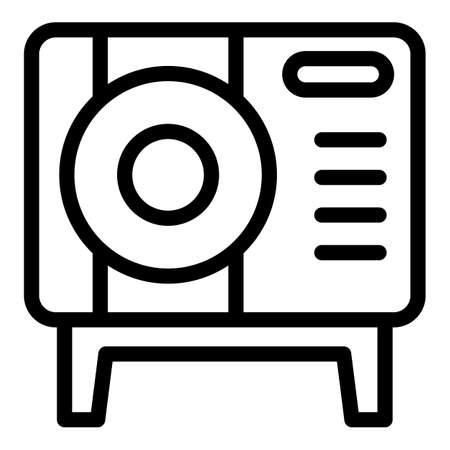 Device consumption icon, outline style