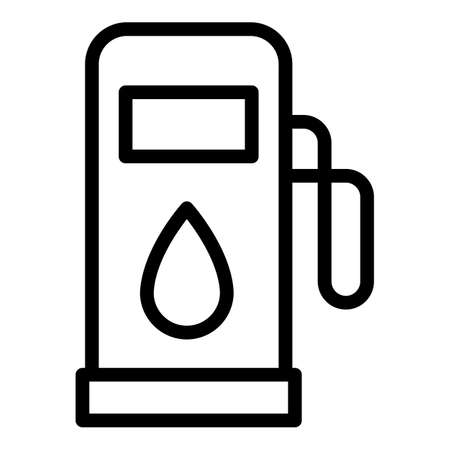 Car dashboard fuel station icon, outline style