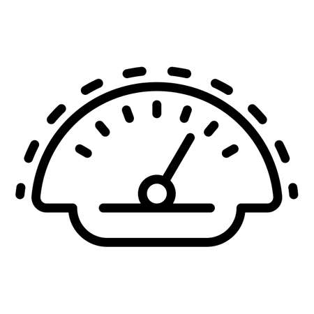 Panel car dashboard icon, outline style