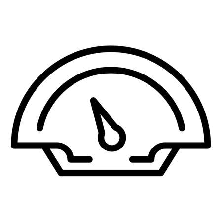 Race car dashboard icon, outline style