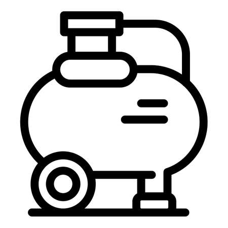 Air compresson pump icon, outline style