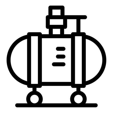 High pressure compressor icon, outline style