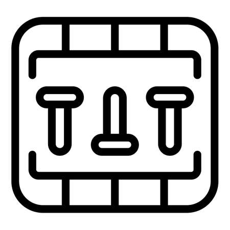 Breaker box icon, outline style Ilustração