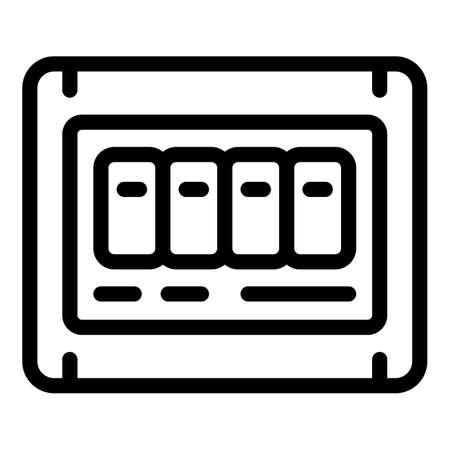 Fuse box icon, outline style