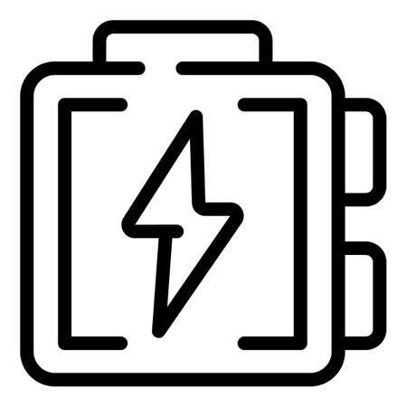 Electric panel icon, outline style